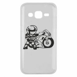 Чехол для Samsung J2 2015 Мотоциклист - FatLine