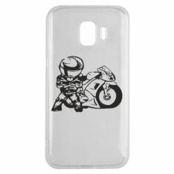 Чехол для Samsung J2 2018 Мотоциклист - FatLine