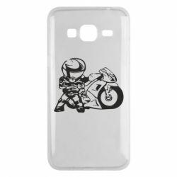 Чехол для Samsung J3 2016 Мотоциклист - FatLine
