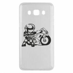 Чехол для Samsung J5 2016 Мотоциклист - FatLine