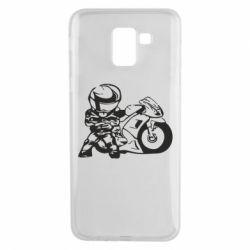 Чехол для Samsung J6 Мотоциклист - FatLine