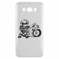 Чехол для Samsung J7 2016 Мотоциклист - FatLine