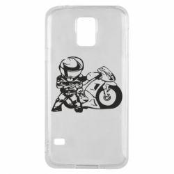 Чехол для Samsung S5 Мотоциклист - FatLine