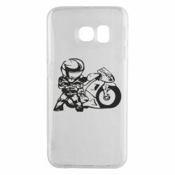 Чехол для Samsung S6 EDGE Мотоциклист - FatLine