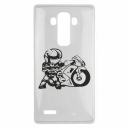 Чехол для LG G4 Мотоциклист - FatLine