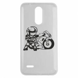 Чехол для LG K7 2017 Мотоциклист - FatLine