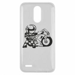 Чехол для LG K10 2017 Мотоциклист - FatLine