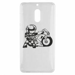 Чехол для Nokia 6 Мотоциклист - FatLine