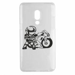 Чехол для Meizu 15 Plus Мотоциклист - FatLine