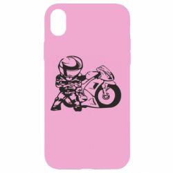Чехол для iPhone XR Мотоциклист - FatLine