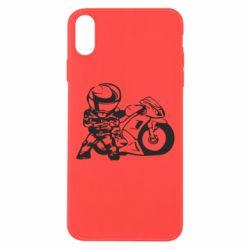 Чехол для iPhone Xs Max Мотоциклист - FatLine