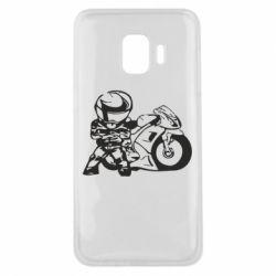 Чехол для Samsung J2 Core Мотоциклист - FatLine