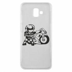 Чехол для Samsung J6 Plus 2018 Мотоциклист - FatLine