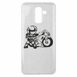 Чехол для Samsung J8 2018 Мотоциклист - FatLine
