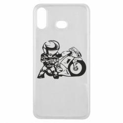 Чехол для Samsung A6s Мотоциклист - FatLine