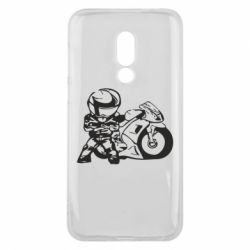 Чехол для Meizu 16 Мотоциклист - FatLine