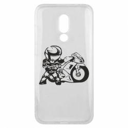 Чехол для Meizu 16x Мотоциклист - FatLine