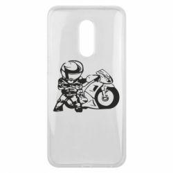 Чехол для Meizu 16 plus Мотоциклист - FatLine