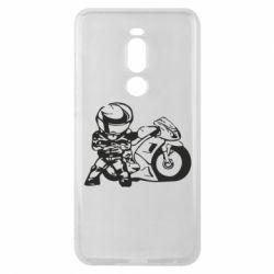 Чехол для Meizu Note 8 Мотоциклист - FatLine