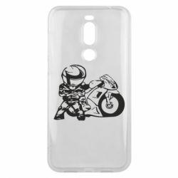 Чехол для Meizu X8 Мотоциклист - FatLine