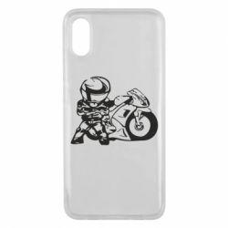 Чехол для Xiaomi Mi8 Pro Мотоциклист - FatLine