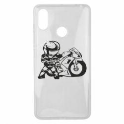 Чехол для Xiaomi Mi Max 3 Мотоциклист - FatLine