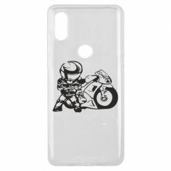 Чехол для Xiaomi Mi Mix 3 Мотоциклист - FatLine