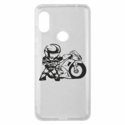 Чехол для Xiaomi Redmi Note 6 Pro Мотоциклист - FatLine