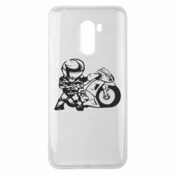 Чехол для Xiaomi Pocophone F1 Мотоциклист - FatLine
