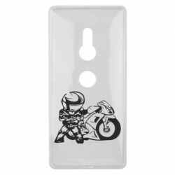 Чехол для Sony Xperia XZ2 Мотоциклист - FatLine