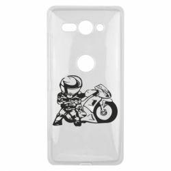 Чехол для Sony Xperia XZ2 Compact Мотоциклист - FatLine