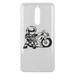 Чехол для Nokia 8 Мотоциклист - FatLine