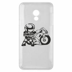 Чехол для Meizu 15 Lite Мотоциклист - FatLine