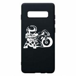 Чехол для Samsung S10+ Мотоциклист