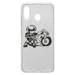 Чехол для Samsung A20 Мотоциклист
