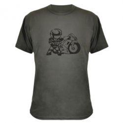 Камуфляжная футболка Мотоциклист - FatLine