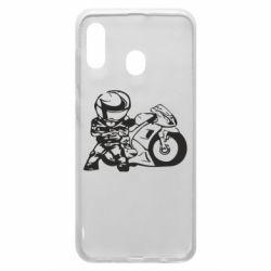 Чехол для Samsung A30 Мотоциклист