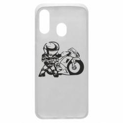 Чехол для Samsung A40 Мотоциклист