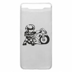 Чехол для Samsung A80 Мотоциклист