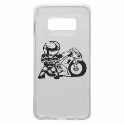Чехол для Samsung S10e Мотоциклист