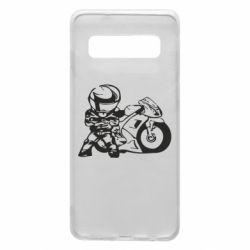 Чехол для Samsung S10 Мотоциклист