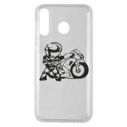 Чехол для Samsung M30 Мотоциклист