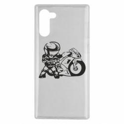 Чехол для Samsung Note 10 Мотоциклист