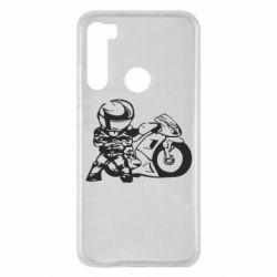 Чехол для Xiaomi Redmi Note 8 Мотоциклист
