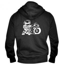 Мужская толстовка на молнии Мотоциклист - FatLine