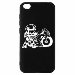 Чехол для Xiaomi Redmi Go Мотоциклист