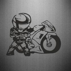 Наклейка Мотоциклист - FatLine