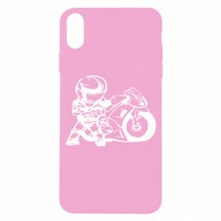 Чехол для iPhone X Мотоциклист - FatLine
