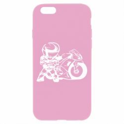 Чехол для iPhone 6/6S Мотоциклист - FatLine