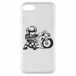 Чехол для iPhone 7 Мотоциклист - FatLine